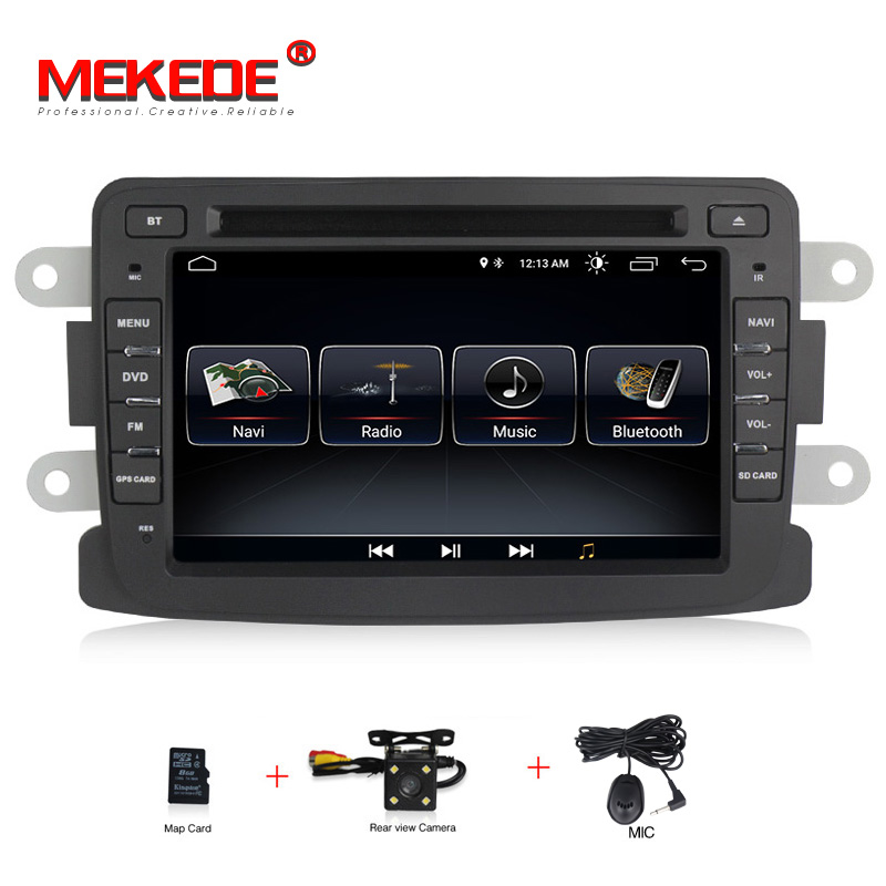 Quad Core Pure Android GPS Navigation Radio For RENAULT Dacia Renault Duster Logan Sandero Car DVD Central Cassette Player android 7 1 car dvd stereo for renault dacia duster sandero lodgy dokker auto radio gps navigation car multimedia with wifi bt