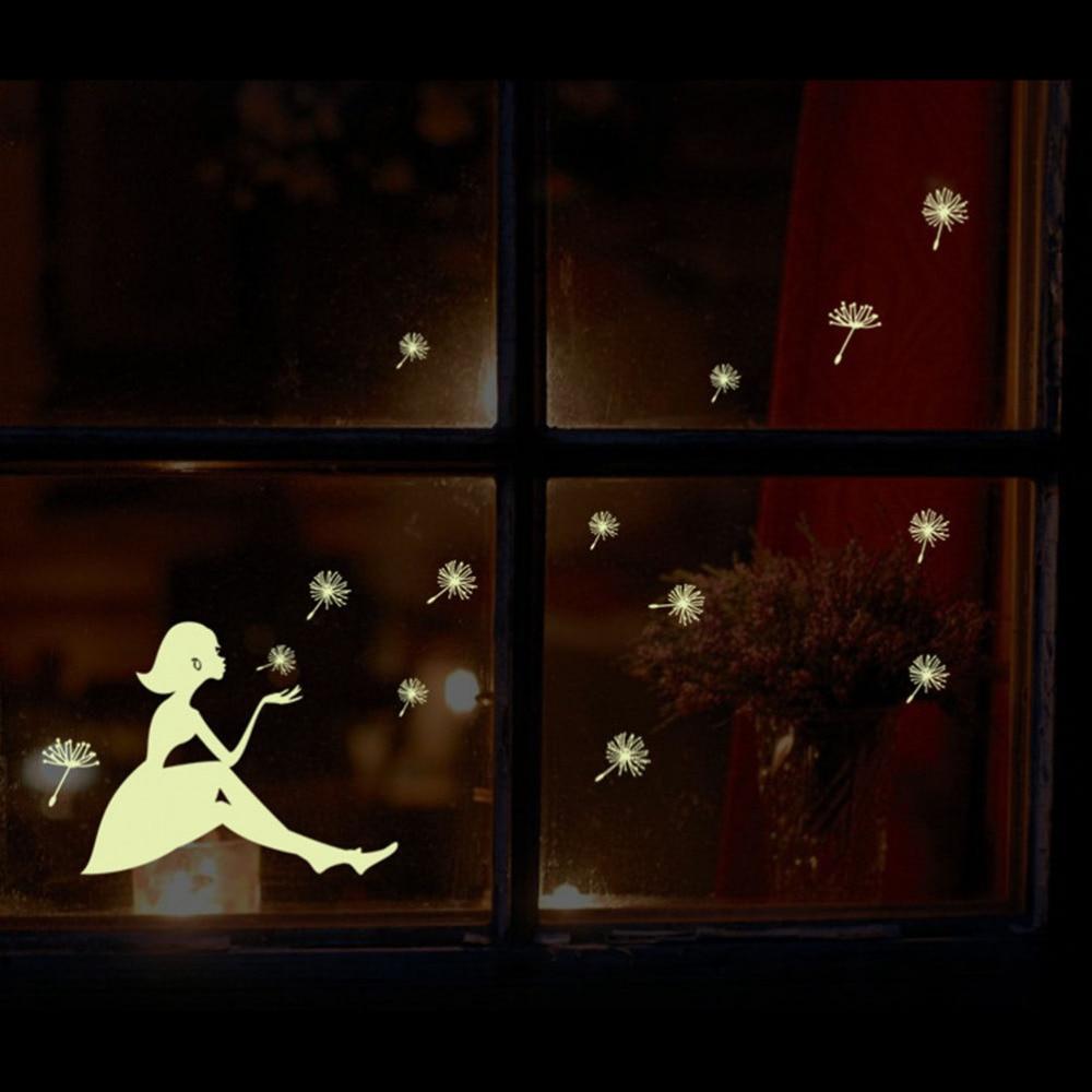 Dandelion Girl Glow In The Dark Wallpaper For Kids Rooms Art