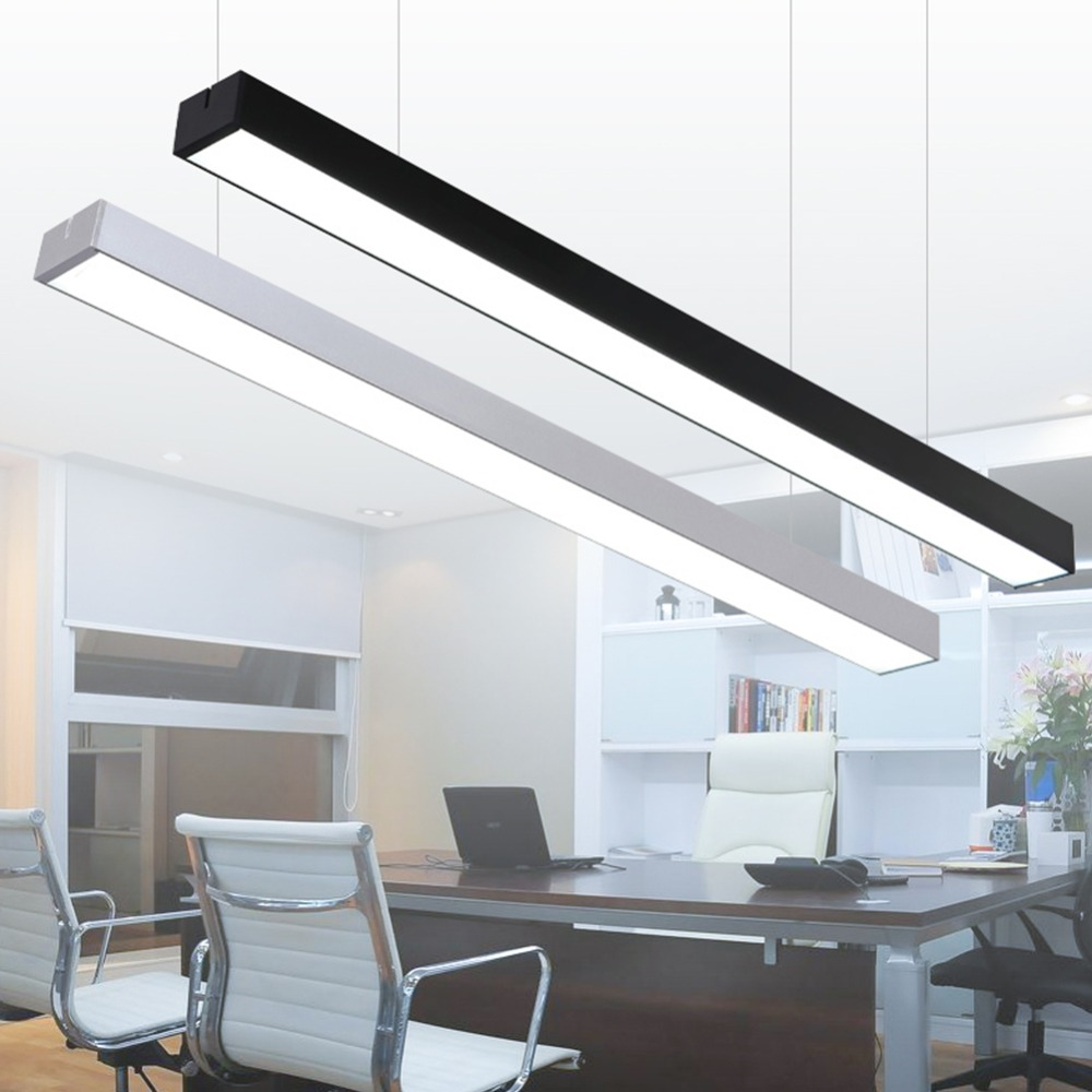 Humor Modern Led Ceiling Light Lamp Lighting Fixture Rectangle Office Remote Bedroom110v 220v Surface Mount Living Room Panel Control Ceiling Lights & Fans