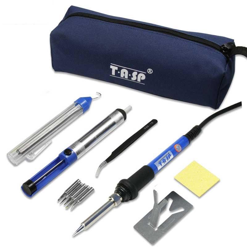 220V 110V 60W elektrinis mini lituoklio temperatūros reguliuojamas temperatūros lydmetalio įrankių krepšys