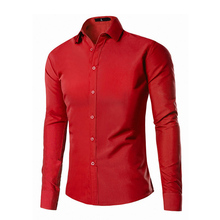 2017 новое поступление мужской одежды Лето Мужской платье мужские повседневные рубашки Slim Fit Топы брендовая одежда красный черный 9 видов цветов