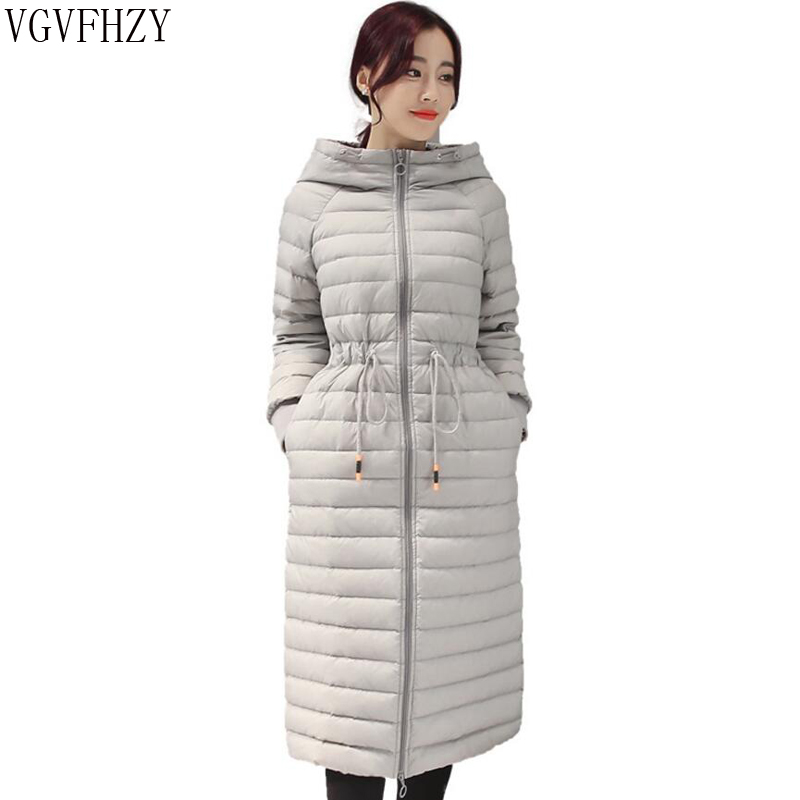 2018 Autumn Winter Women White duck   down   Jacket   Coat   long Fashion Warm Outerwear High Quality Hooded   down     Coats   Female Parkas