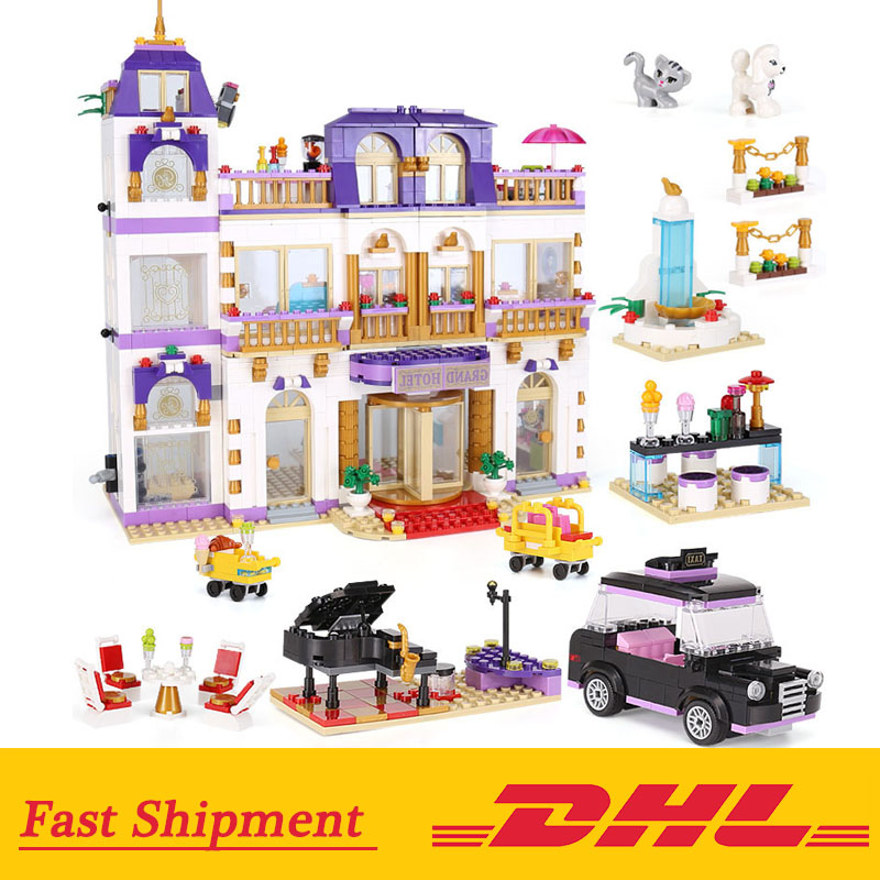 The Heartlake Grand Hotel 01045 Building Block Compatible Friends legoing 10547 Model Educational Toys For ChildrenThe Heartlake Grand Hotel 01045 Building Block Compatible Friends legoing 10547 Model Educational Toys For Children