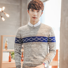 2017  christmas Sweater Men o-Neck Male casual Knitting sueter hombre pullover men Knitted pull Sweaters 16163