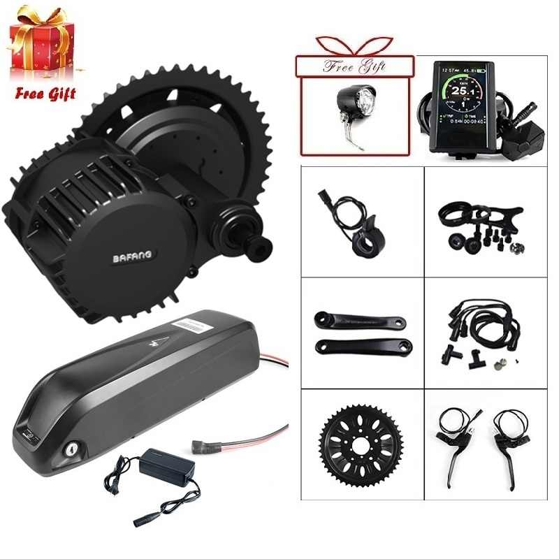 Bafang Motor BBSHD 48V 1000W BBS03 Mid Drive Motor Electric Bicycle ebike Conversion Kit W/ 12Ah Battery Built in Samsung Cells