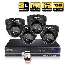 SANNCE 1080P CCTV System HD 1080N 8CH AHD DVR 4PCS 1.0MP 720P 1200TVL Dome CCTV Camera Video Surveillance System Kit
