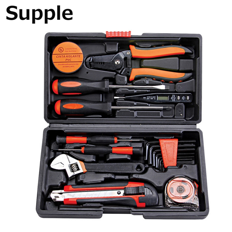 Supple 20 in 1 telecommunications tools home hardware toolbox combination of sets of hand tools electrical maintenance tools ra 8813a 2 in 1 car safety hammer sets of mobile phone charging plug combination set of vehicle emergency rescue toolbox