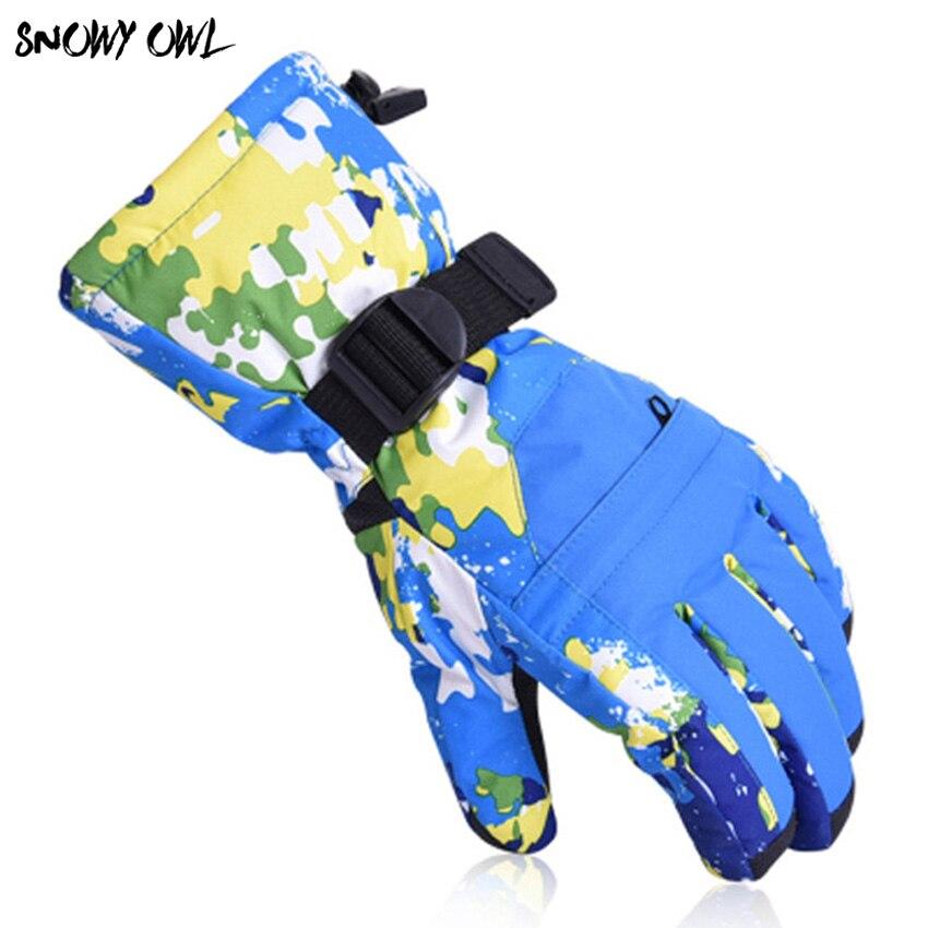 Gants de Ski imperméables hommes femmes gants de Ski Snowboard chauds motoneige moto équitation hiver gants de neige en plein air h45