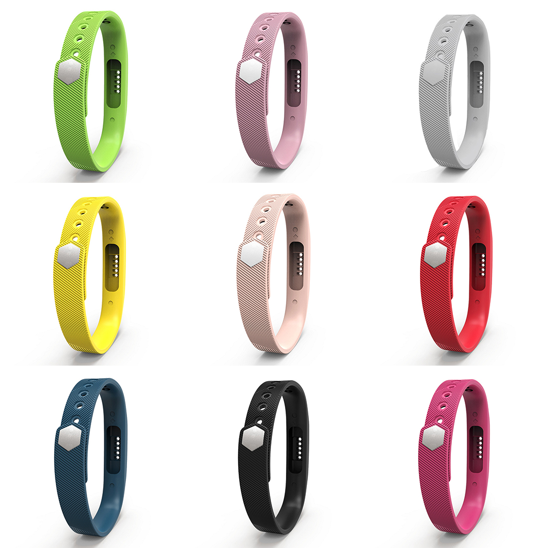 For Fitbit Flex 2 Tracker Band Bracelet Strap Replacement Silicone Rubber White