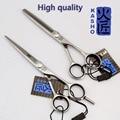 6 Дюймов Высокое качество kasho профессиональный ножницы парикмахерские парикмахерская ножницы истончение profissional 6 inch