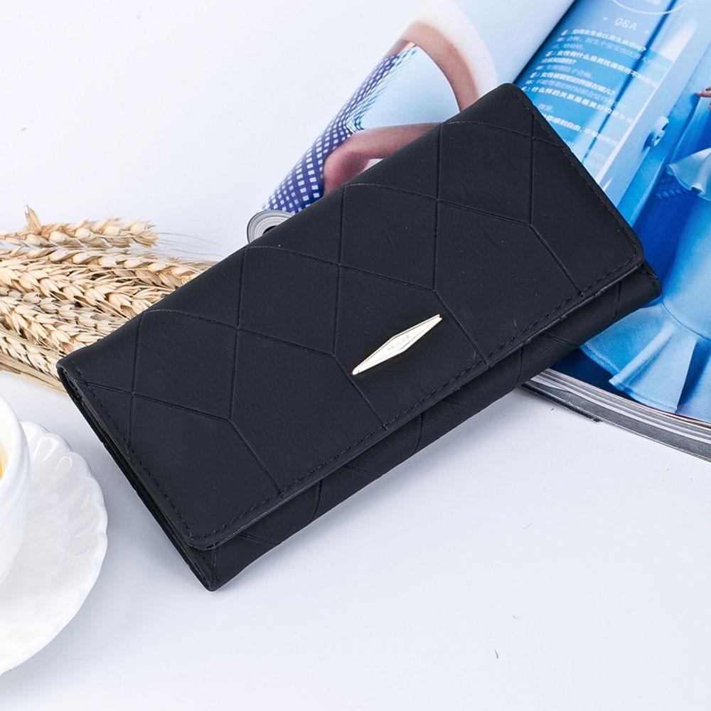 2018 Fashion Women Solid Hasp& Zipper Coin Purse Long Wallet Card Holders Wallet Female Famous PU leather Clutch Handbag 10jul27