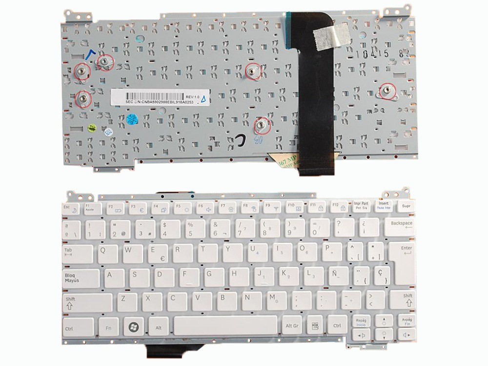 New SP Laptop Keyboard For SAMSUNG NC110 WHIT Repair Notebook Replacement keyboards