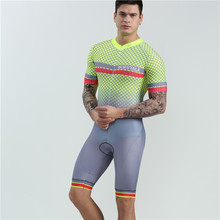 2019 summer swimwear men short sleeve cycling skinsuit BOESTALK selling Professional competition bike ciclismo triathlon suit