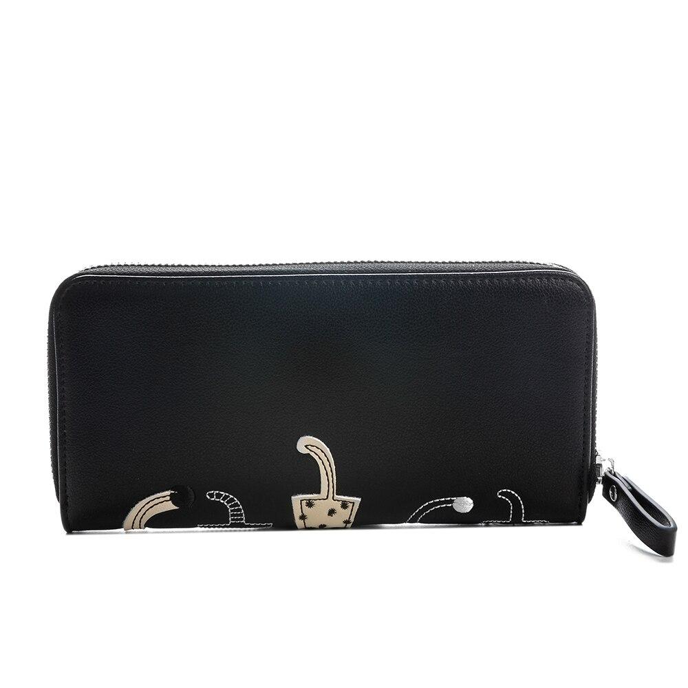couro pu coin purse id Color : Black, white