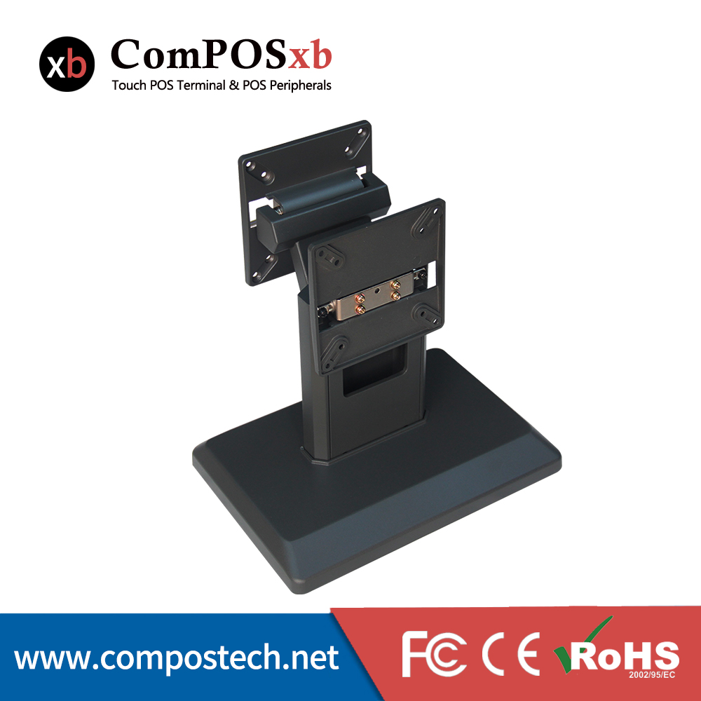 ComPOSxb  Free shpping China pos dual aluminium  monitor stand for touch monitor or pos all in one cheapest price stand for lcd monitor or computer all in one pc