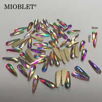 10pc cristal AB 3D Nail Art strass gemmes Flatback pierres bricolage décorations manucure diamant bijoux différentes formes pour les ongles