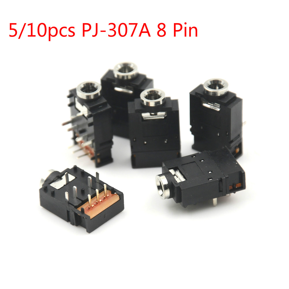 50pcs 3.5mm Female Audio Jack Connector SMT 6 Pin Stereo Headphone Phone PJ-313D