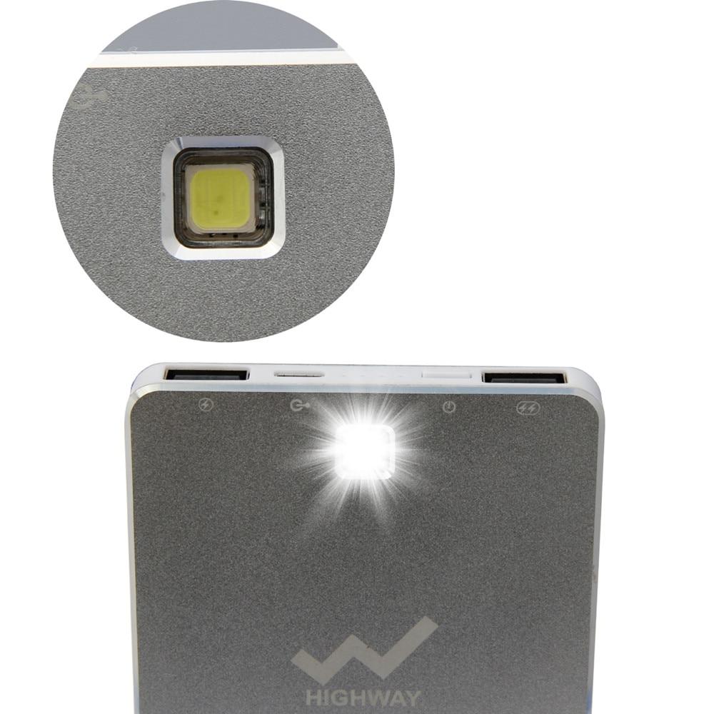 PowerGreen Slim Power Bank 10000mAh Baterai Eksternal Solar Charger - Aksesori dan suku cadang ponsel - Foto 3