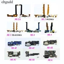 cltgxdd 1Piece USB Charging Connector Plug Port Dock Flex Cable For Xiaomi Mi 2A 3 Mi3 4 Mi4 4C 4I 4S 5 5C 5S 6 Mi max max2