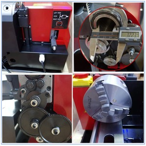Image 5 - Brushless Motor All Metal Gears 650w Mini Lathe Machine Metalworking Digital Control Benchtop Milling 32mm Spindle Hole