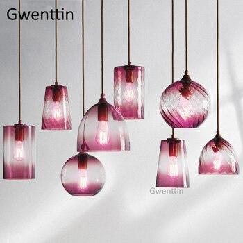 Moderne Stained Glass Hanglamp Led voor Home Decor Woonkamer Opknoping Keuken Verlichtingsarmatuur Industriële Lamp Armatuur