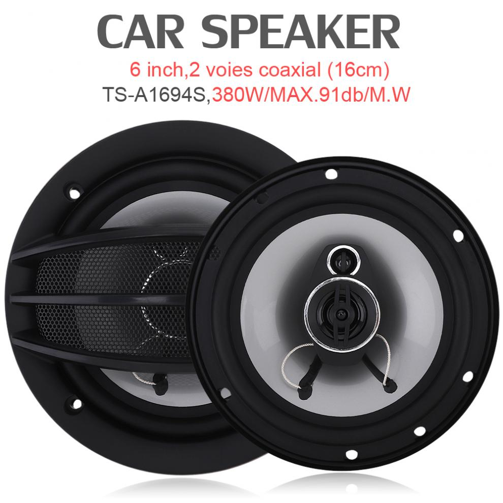 2pcs 6 Inch 380W Auto Car HiFi Coaxial Speaker Vehicle Door Auto Audio Music Stereo Full Range Frequency Speakers for Cars цена