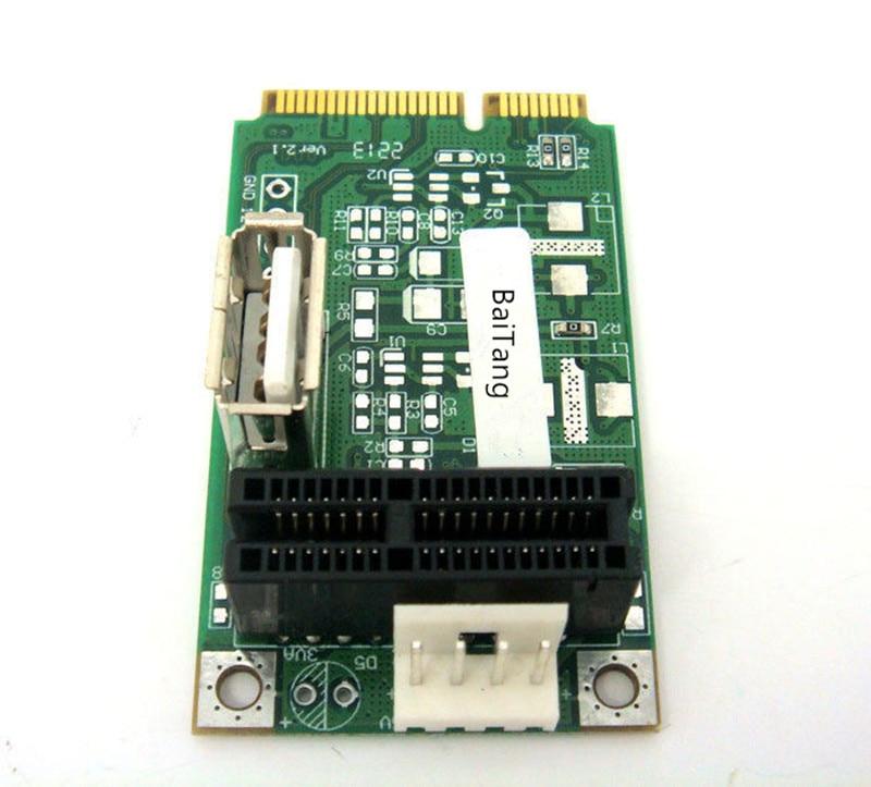 mini pci-e to PCI-e express 1X 4X 8X 16X Riser Extender adapter Card+USB port 2pcs cf mini pci e mini pci e adapter mini pci express cf card to mini pci e express adapter as ssd for eeepc 901 900a