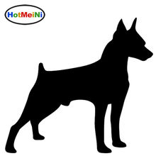 HotMeiNi Mini Miniature Pinscher Dog scottish terrier Graphic Car Sticker Window Door Kayak Vinyl Decal Animal prints Christmas(China)