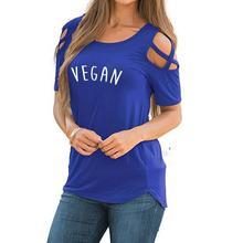 Fancy VEGAN logo women's blouse / girlie