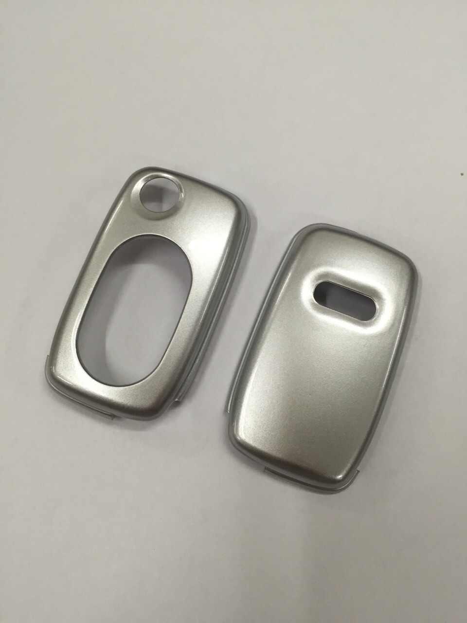 Parlak Gümüş Renk Flip Anahtar Uzaktan Anahtar Koruma Kılıfı Audi A3 8L A4 B5 B6 TT MK1 A6 C5