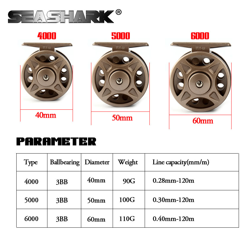 FLY Fish Reel Left/Right Interchangeable Peche Fishing Accesso Former Rafting Ice Fishing Wheel