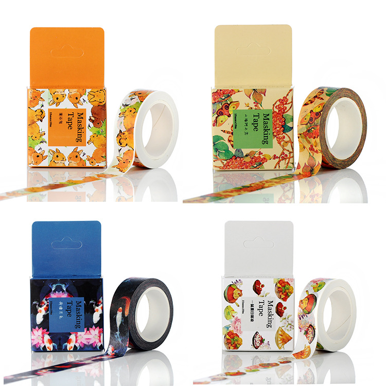 1PCS 24 Style 15mm*10m The Mysteries of The Universe DIY Washi Tapes Masking Tape Cartoon Tapes School Supplies Material Escolar lizzie mcguire mysteries case of the missing she geek book 3 junior novel lizzie mcguire mysteries