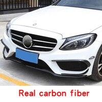 Для 2015 2018 Mercedes Benz класса C w205 amg c63 купе спереди и сзади туман углеродное волокно полосы света внешней отделки аксессуаров