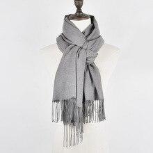 Elegant Long Cashmere Tassel Scarf