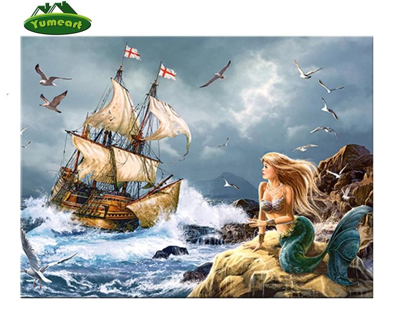Nautical//Ocean//Kids Pirate Ship Needlepoint Kit or Canvas