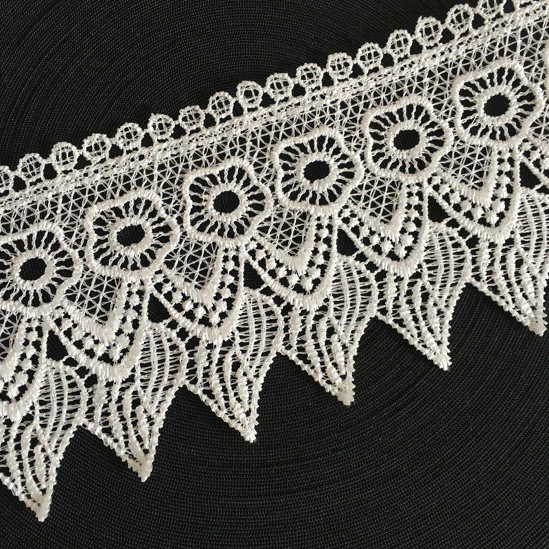 Vintage White Embroidery Lace Edge Trim Ribbon Wedding Applique DIY Sewing Craft