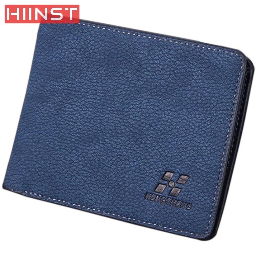 Men Bifold Business PU Leather Wallet Money Card Holder Coin Bag Purse Gift san15 pin