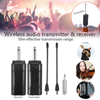 Multi channel Wireless Audio Transmitter Amplifier Receiver System for Guitar Black Lightweight E4V5 Instruments Anti jamming