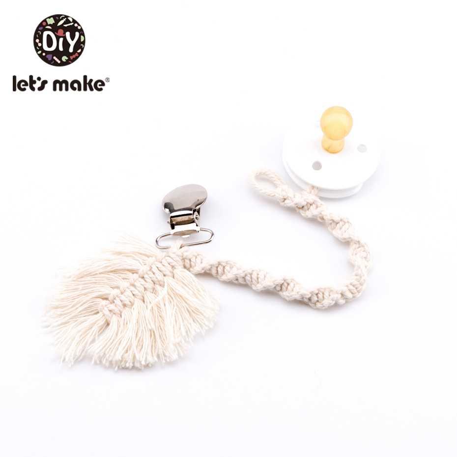 Let'S Make Baby Teething Pacifier สร้อยคอเชือกทอ Leaf Chain ไม่มีหัวนมของเล่นสำหรับเด็ก 0-12 เดือน Teether