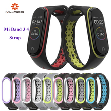 Mi Band 4 3 Strap wrist strap sport Silicone Bracelet for band band3 smart watch bracelet Xiaomi mi