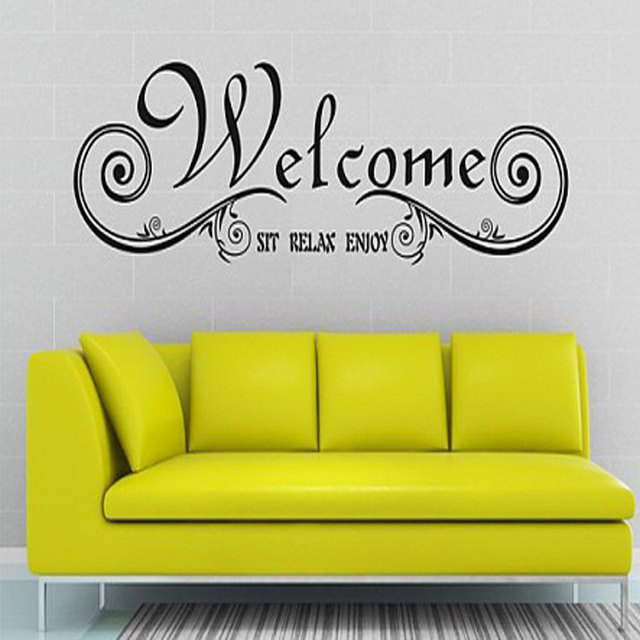 Welcome English Quote Saying Vinyl Wall Art Decal pegatinas de pared ...