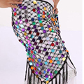 New 2017 Women Belly Dance Costumes Hip Scarf Wrap Belt Skirt Sequins triangle