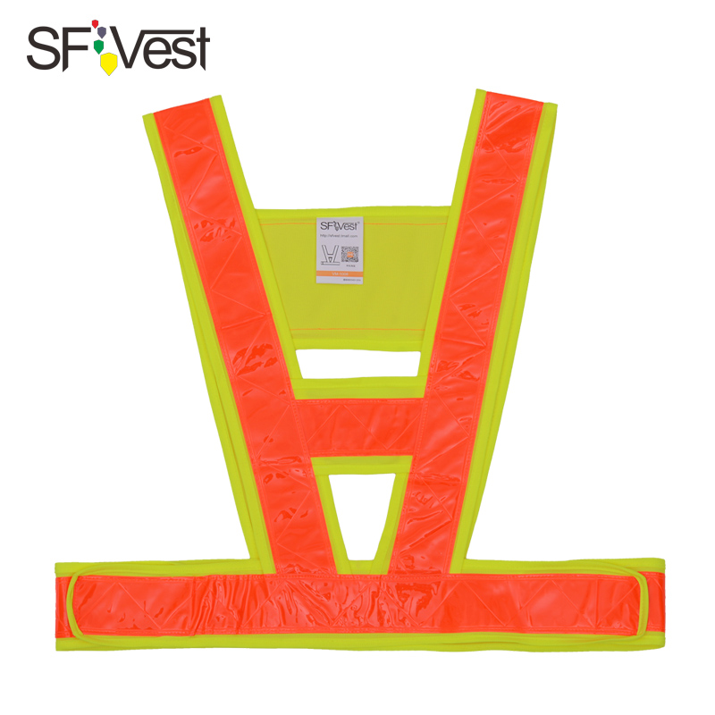 Men's Hi vis vest Hook and Loop Style Orange Safety Vest with Reflective Strips free shipping 5cmx5m gray tc material reflecterende stof for jacket and vest free shipping