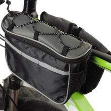 Catazer Bike Front Tube Bag Cycling Bicycle Double Pannier Mountain Frame Front Tube Saddle Bag