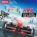 Syma X9 X9S Mini Drone Air-Land Dual Mode RC Fly Car Quadcopter 2.4G 4CH 6-Axis Speed Switch 3D Flips Flashing Linght Helicopter