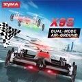 Syma x9 x9s mini drone ar-terra dual mode rc carro voar Interruptor de Velocidade Quadcopter 2.4G 4CH 6-Axis 3D Vira Piscando Linght Helicóptero