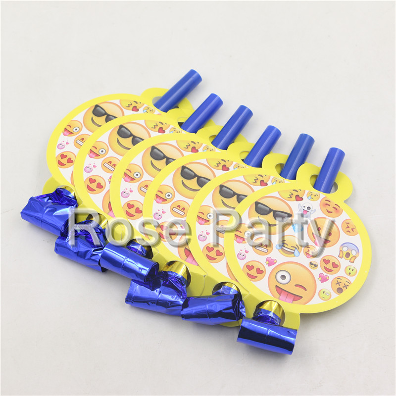 12pcs Happy Emoji Toy Blowout Party Decorations Baby