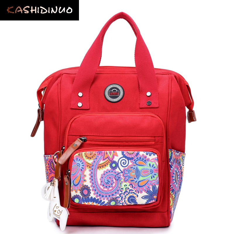 KASHIDINUO Brand Women Backpack Ladies School Bags Teenager Girl Mother Daypack National Print Rucksack Travel mochila