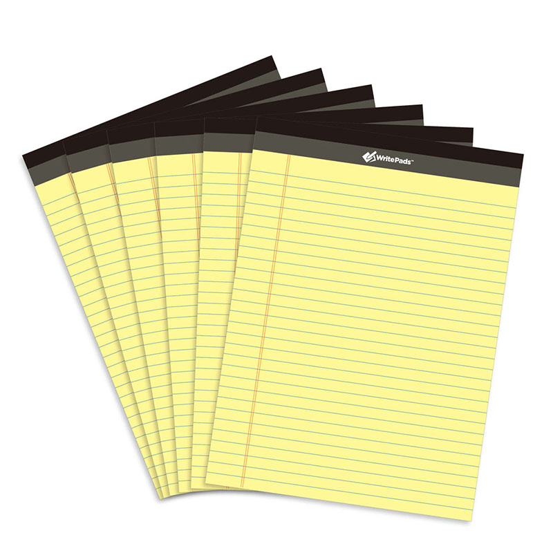 Yellow legal writing pad 6PCS A4 Memo Pad USA style 50 sheets PCS Notebook paper Office