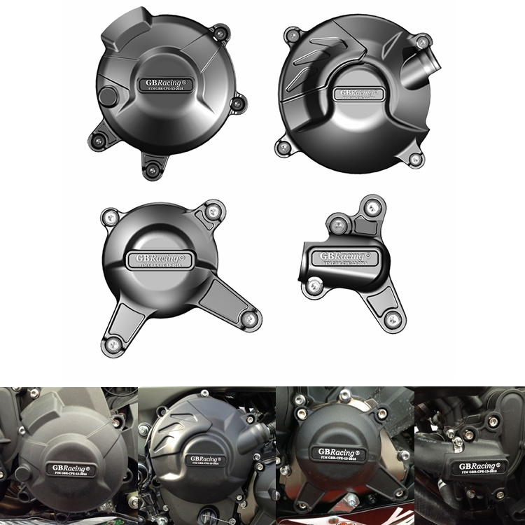 Motos Moteur couverture Protection cas pour cas GO Racing Pour YAMAHA MT09 FZ09 2014-2019 Moteur CoversProtectors
